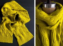 Reversible Knitted Rivulet Scarf | The Knitting Space