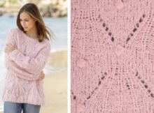 Candied Almonds Bobble Knitted Sweater | The Knitting Space