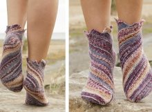 Striped Knitted Jupiter Socks | The Knitting Space