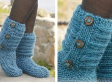 One Step Ahead Knitted Slippers | The Knitting Space