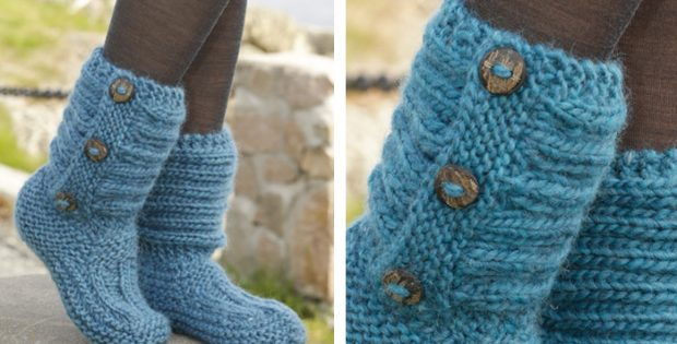 One Step Ahead Knitted Slippers Free Knitting Pattern