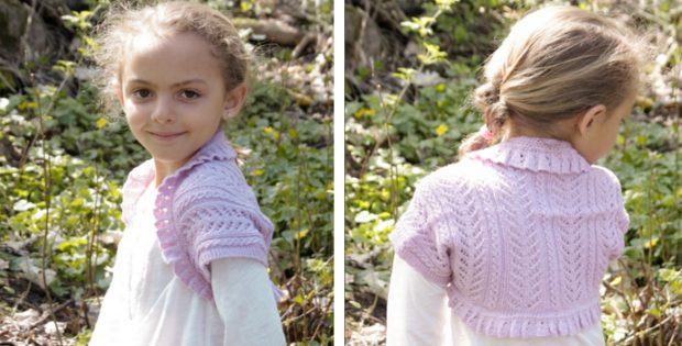 Leelanee Knitted Lace Bolero Free Knitting Pattern