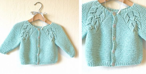 Liliana Knitted Lace Baby Cardigan Free Knitting Pattern