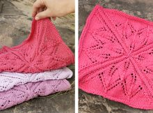 Kitchen Star Knitted Lace Dishcloth | The Knitting Space