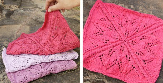 Kitchen Star Knitted Lace Dishcloth Free Knitting Pattern