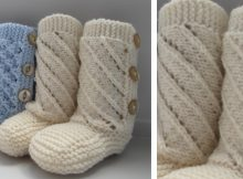 Adorable Knitted Baby Booties | The Knitting Space