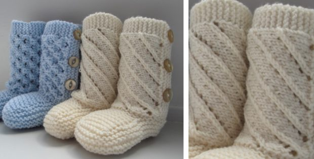 Adorable Knitted Baby Booties Free Knitting Pattern