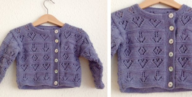 Corinna Knitted Baby Cardigan | The Knitting Space