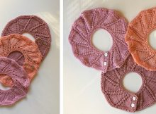Rose Knitted Lace Baby Collar | The Knitting Space
