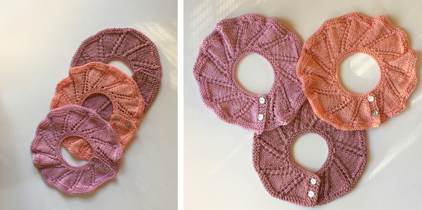 Rose Knitted Lace Baby Collar Free Knitting Pattern