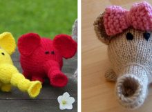 Adorable Knitted Flower Power Elephant | The Knitting Space