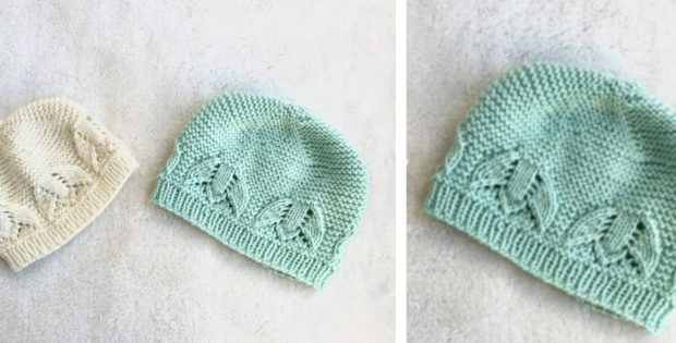 Liliana Knitted Lace Baby Hat Free Knitting Pattern