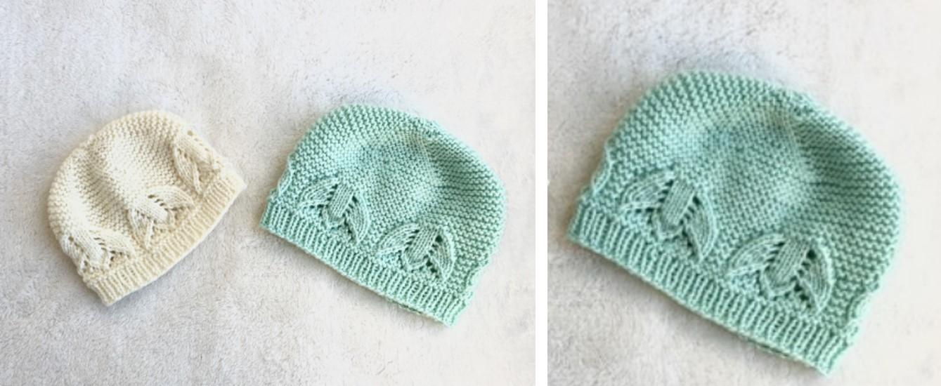 Liliana Knitted Lace Baby Hat Free Knitting Pattern