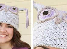 Adorable Knitted Purple Owl Hat   The Knitting Space
