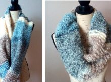 Waterfall Knitted Infinity Scarf | The Knitting Space