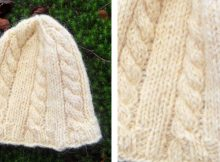 Cozy Cable Knitted Beanie   The Knitting Space