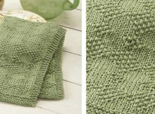 Simple Knitted Diamond Dish Towel | The Knitting Space