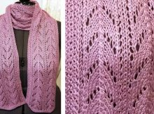 Frosted Dew Knitted Lace Scarf | The Knitting Space