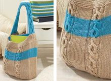 Stylish Cable Knitted Summer Bag | The Knitting Space