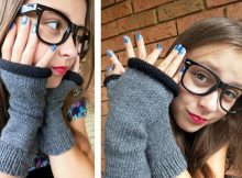Lovely Knitted Fingerless Mitts | The Knitting Space