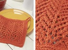 Flying V Knitted Lacy Dishcloth | The Knitting Space