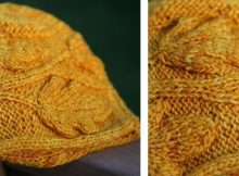Autumn Leaves Knitted Cap | The Knitting Space
