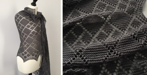 Argyle Stole Knitted Shawl Free Knitting Pattern