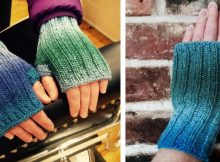 Cordoncillo Knitted Fingerless Mitts | The Knitting Space