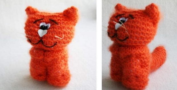 Adorable Knitted Waldorf Cat Free Knitting Pattern