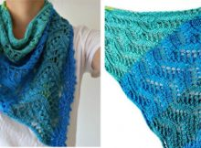 Vibrant Knitted Kohi Shawl | The Knitting Space