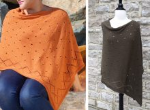 Stylish 14 Carat Knitted Poncho |The Knitting Space