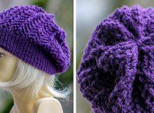 Arrowhead Knitted Slouchy Beanie | The Knitting Space