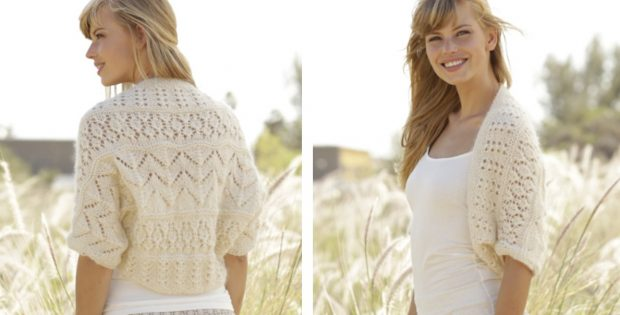 Midsummer Knitted Lace Bolero Free Knitting Pattern