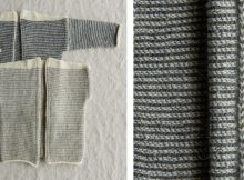 Tiny Stripes Knitted Cardigan/Vest Set | The Knitting Space