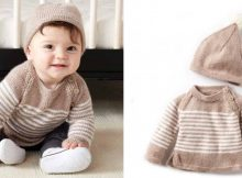 Wee Stripes Knitted Pullover/Hat Set | The Knitting Space