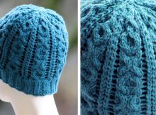 XOXO Cable Knitted Beanie | The Knitting Space