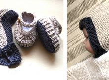 Cozy Knitted Booties/Helmet Set | The Knitting Space