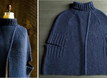 Elegant Cozy Knitted City Cape | The Knitting Space