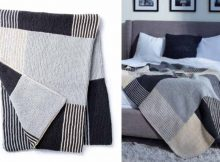Essential Stripes Knitted Blanket   The Knitting Space