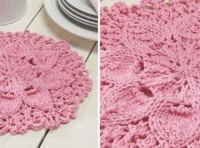Zinnia Knitted Floral Dishcloth | The Knitting Space