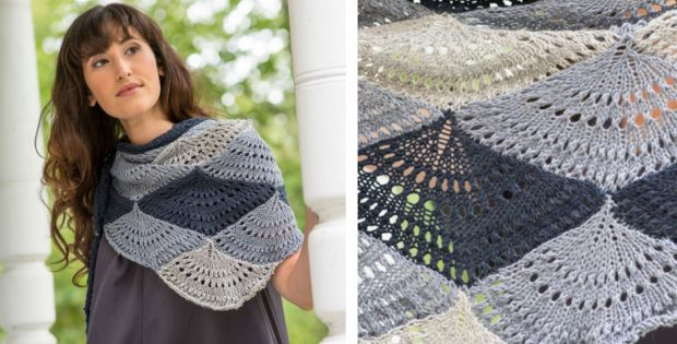 Stunning Ostro Knitted Shawl | The Knitting Space
