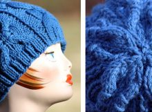 Banded Cable Knitted Beanie | The Knitting Space
