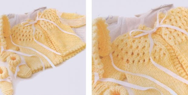 Adorable knitted lace set | The Knitting Space