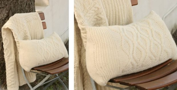Nepal knitted cushion cover | The Knitting Space