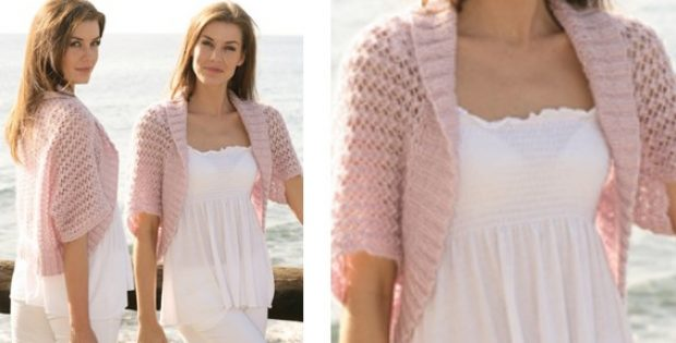 Stylish Knitted Lace Bolero Free Knitting Pattern