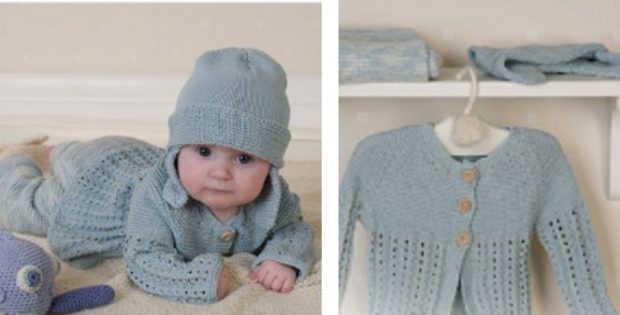 Delightful Knitted Baby Layette Set Free Knitting Pattern