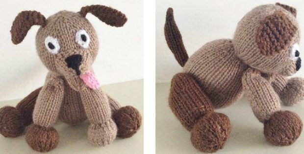 Super Cute Knitted Dog Soft Toy Paid Pattern