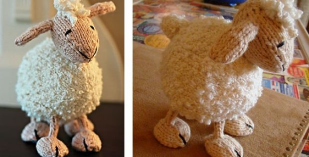 Adorable Knitted Lamb Softie Free Knitting Pattern