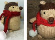 Adorable knitted hedgehog softie | The Knitting Space