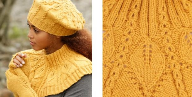 Hello Sunshine Knitted Beret And Cowl Free Knitting Pattern